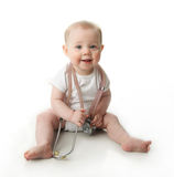 Baby with stethoscope Royalty Free Stock Image