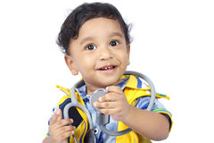 Baby with Stethoscope Stock Photography
