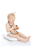 Baby with stethoscope Royalty Free Stock Photo