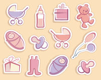 Baby stickers Royalty Free Stock Images