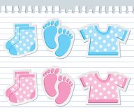Baby stickers Royalty Free Stock Image