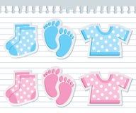 Baby stickers stock illustration