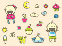 Baby Stickers Stock Photography