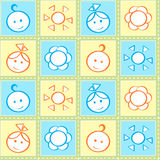 Baby stitches seamless pattern Royalty Free Stock Photos