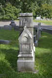 Baby Stone. An infants headstone in Woodlawn Cemetery Stock Photos