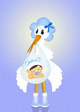 Baby stork. Funny illustration of baby stork Royalty Free Stock Photos
