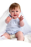 Baby stretching out her hands Royalty Free Stock Photography