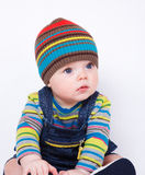 Baby in striped clothes Royalty Free Stock Photography