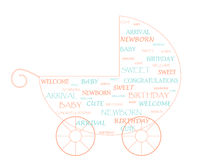 Baby stroller. Made of newborn baby related words Royalty Free Stock Images