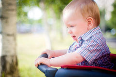 Baby in stroller Royalty Free Stock Image