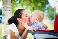Baby in stroller Stock Photos