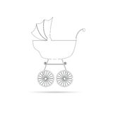 Baby stroller ancient beauty black  Royalty Free Stock Image