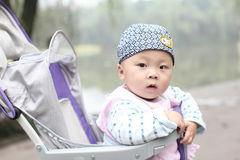Baby in stroller Stock Image