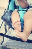 Baby on stroller Royalty Free Stock Image