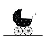Baby stroller cartoon  Royalty Free Stock Photo