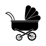 Baby stroller icon Royalty Free Stock Image