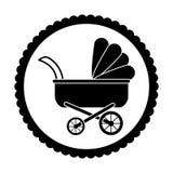 Baby stroller icon Stock Photo