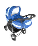 Baby stroller isolated on white Stock Image