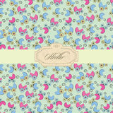 Baby stroller label Royalty Free Stock Images