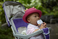 Baby in stroller Royalty Free Stock Photo
