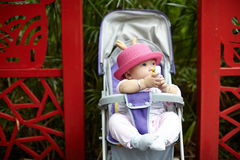 Baby in stroller Royalty Free Stock Photography