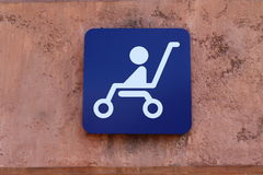 Baby stroller Sign Bord Stock Image