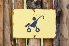 Baby stroller sign Royalty Free Stock Images
