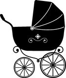 Baby Stroller (Silhouette) Stock Image