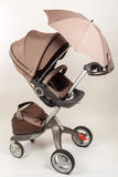 Baby stroller with umbrella Stock Photography