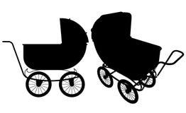 Baby Stroller Vector 01. Baby Handle Stroller Illustration Vector Royalty Free Stock Photo