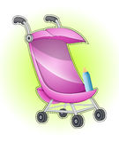 Baby Stroller Vector Royalty Free Stock Photography