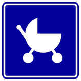 Baby stroller vector sign Stock Image