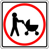Baby stroller vector sign Stock Photography