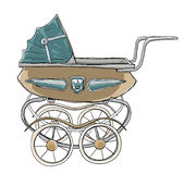 Baby stroller vintage Royalty Free Stock Photos