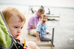 Baby in a stroller Stock Image