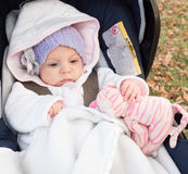 Baby in strollers Stock Images