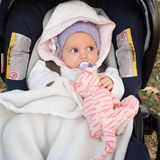 Baby in strollers Royalty Free Stock Photography