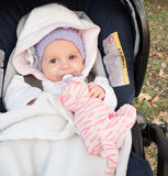 Baby in strollers Stock Image
