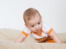 Baby struggle Royalty Free Stock Photos