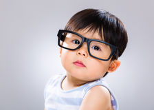 Baby student wear glasses Stock Images