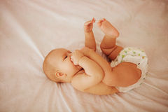 Baby in studio. Royalty Free Stock Images