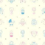 Baby stuff Background Pattern Royalty Free Stock Photos