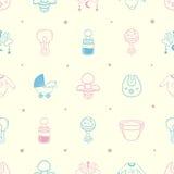 Baby stuff Background Pattern. Illustration of a baby stuff  Pattern Royalty Free Stock Photos