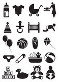 Baby Stuff Icon Set Royalty Free Stock Photo