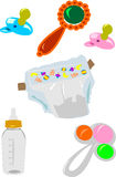 Baby stuff icons collection Royalty Free Stock Images