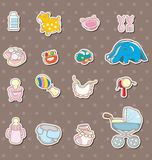 Baby stuff stickers Stock Photo