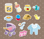 Baby stuff stickers Royalty Free Stock Image