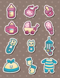 Baby stuff stickers Stock Image