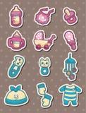 Baby stuff stickers Stock Image