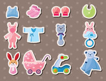 Baby stuff stickers Stock Images